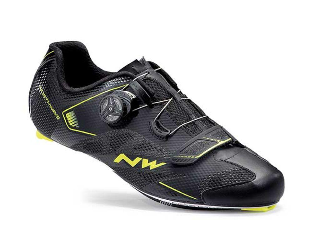 NORTHWAVE Road Sonic 2 Plus kerékpáros cipő, fekete-sárga