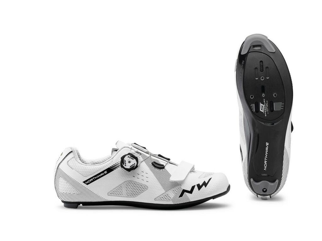 NORTHWAVE Road Storm Carbon kerékpáros országúti cipő, fehér