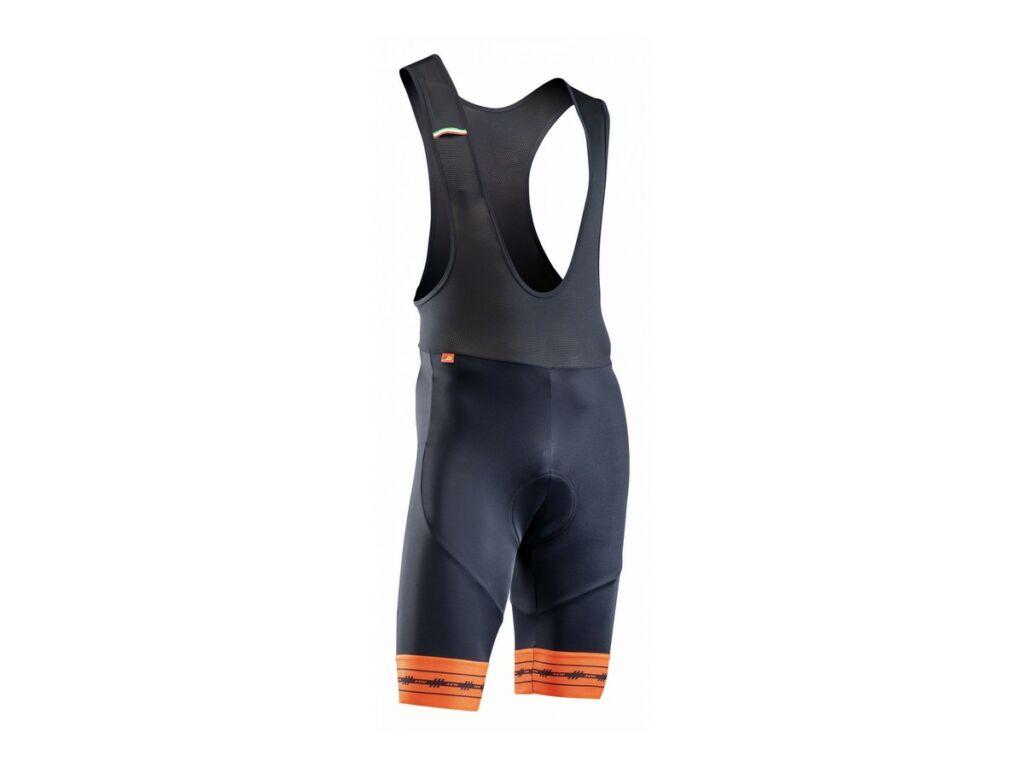 NORTHWAVE Wingman Gel rövid, kantáros kerékpáros nadrág, fekete/narancs
