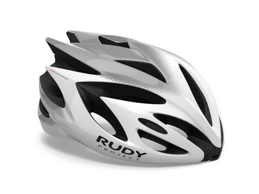 RUDY PROJECT Rush kerékpáros sisak, White/Silver