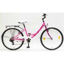 """CSEPEL FLORA 24"""" 6SP 17 gyerek kerékpár, rózsa-ciklámen, szitakötős"""