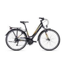 """CTM AMBER 1.0 női trekking kerékpár, matt fekete / sárga, 17"""" (43)"""