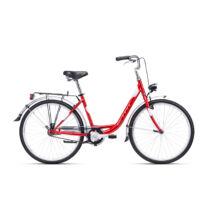 """CTM OLIVIA 1.0 női városi kerékpár, mélypiros / fehér, 17"""" (430)"""