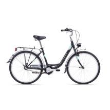 """CTM OLIVIA 3.0 női városi kerékpár, matt fekete / világos menta, 17"""" (430)"""