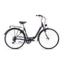"""CTM RITA 1.0 női városi kerékpár, matt fekete / pink, 17"""" (430)"""