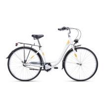 """CTM RITA 2.0 női városi kerékpár, matt fehér / barna, 17"""" (430)"""