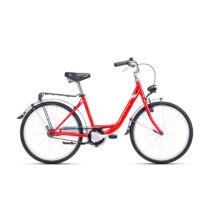 """CTM SANDRA női városi kerékpár, piros / ezüst, 16"""" (410)"""