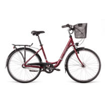 """Dema CLARICE 26 3sp Dynamo Marsala női városi kerékpár, fekete, 17"""""""