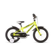 DEMA ROCKIE 16FW gyermekkerékpár, kék / neonsárga