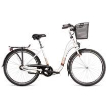 "Dema SILENCE 3sp városi kerékpár, fehér / barna, 17"""